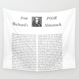 Wit & Wisdom from Poor Richard's Almanack Wall Tapestry