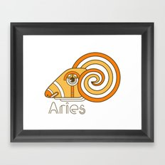 Deco Aries Framed Art Print