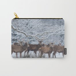 Red deers  from wintry Killarney National Park Carry-All Pouch