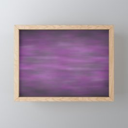 Abstract Watercolor Blend 12 Black, Gray and Purple Graphic Design Framed Mini Art Print