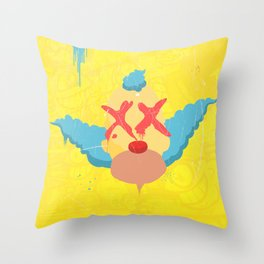 Tears of a Clown Graffiti Throw Pillow