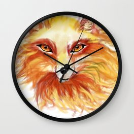 A Fire Fox Wall Clock