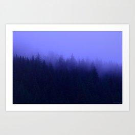Periwinkle Fog 0367 - Seward, Alaska Art Print