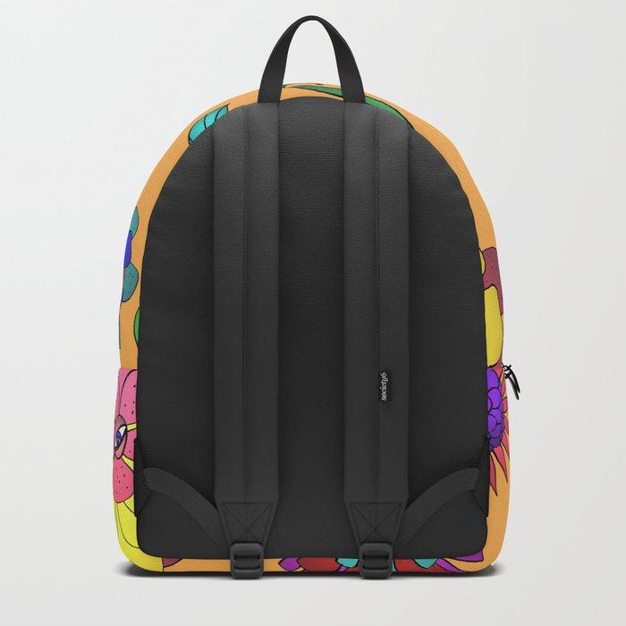 Crazy Daisy vitamin C pattern Backpack