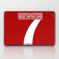 ronaldo iPad Cases featuring Cristiano Ronaldo Chant by Maxvtis