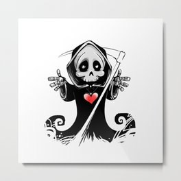 Hug Reaper Metal Print