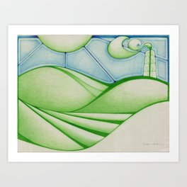 Green Oil Art Print