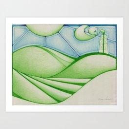 Green Oil Art Print