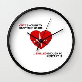 Cute and Skilled Nurse Wall Clock