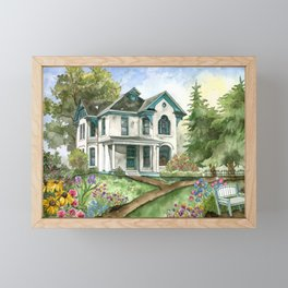 Garden House Framed Mini Art Print