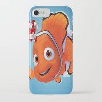 nemo iPhone & iPod Cases featuring nemo  , nemo  games, nemo  blanket, nemo  duvet cover by ira gora