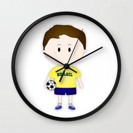 Football Copa Boy Brazil 2014 Wall Clock