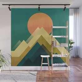 Gold Peak Wall Mural