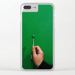 lollipop, meet wall Clear iPhone Case