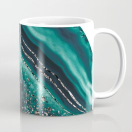 Teal Agate Rose Gold Glitter Glam #1 #gem #decor #art #society6 Coffee Mug