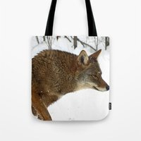 coyote Tote Bags featuring Coyote by tracy-Me