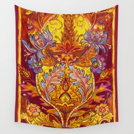 Lush Reds & Yellows Wall Tapestry