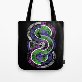 Entwined - Geometric, abstract, pastel themed textured design Tote Bag
