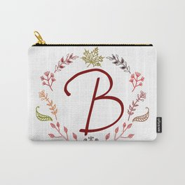 Floral B letter Carry-All Pouch