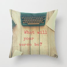 What will your verse be? Throw Pillow