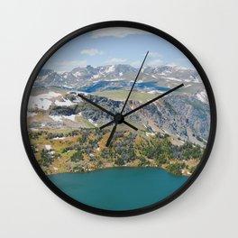 Beartooth Lakes Wall Clock