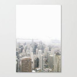 Cloudy Chicago Canvas Print