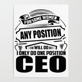 Funny Women Feminist Poster