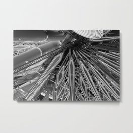 Black and White Neon Lights- 8 of 8 Metal Print