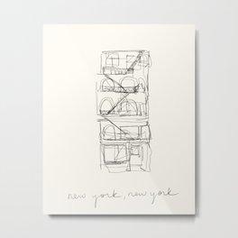 New York apartment building Metal Print