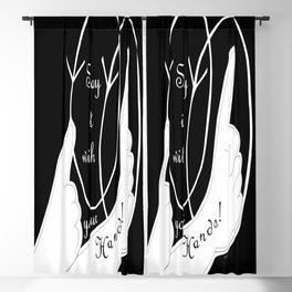 Say It With Your Hands Blackout Curtain