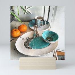 Seaside hand sculpted pottery Mini Art Print