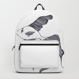 Fish in the water. Backpack