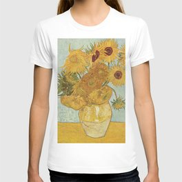 Vase with Twelve Sunflowers, Van Gogh T-shirt