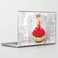 pin up Laptop & iPad Skins featuring Pin up by Sara Sanchez
