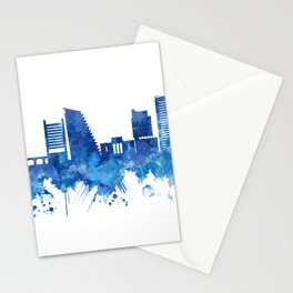 Nicosia Cyprus Skyline Blue Stationery Cards