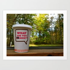 What Are You Thinkin'? Art Print
