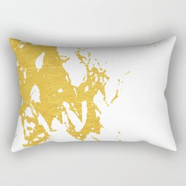 Gold Abstract III Rectangular Pillow