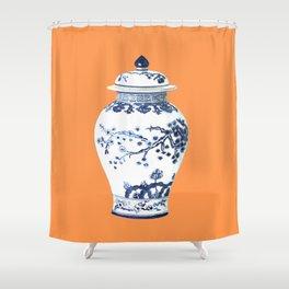 GINGER JAR NO 3 TANGERINE Shower Curtain