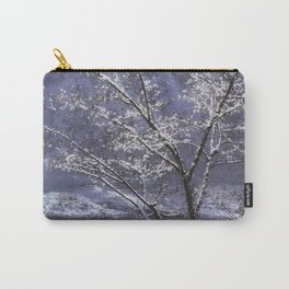 Snow Flowers Whimsy Carry-All Pouch