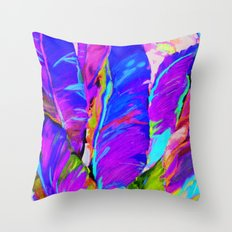 Exotic Leaves Throw Pillow