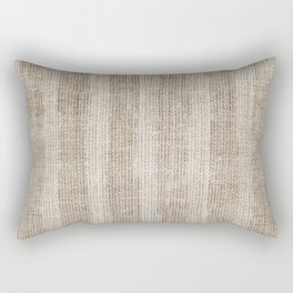 Striped burlap (Hessian series 3 of 3) Rectangular Pillow