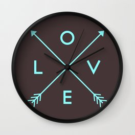 Love Arrows 03 Wall Clock