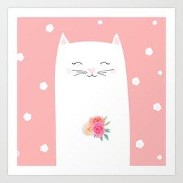 cat bride Art Print