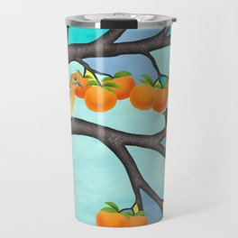 B. orioles in the stained glass tree Travel Mug