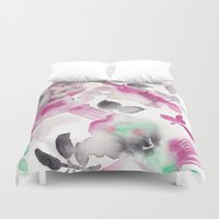 grateful dead Duvet Covers featuring Grateful by The East Auklet