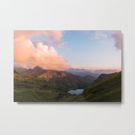 Mountain lake in Germany with Moon - landscape photography Metal Print