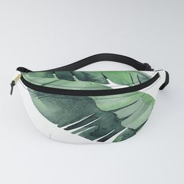 Tropical Island Leaves Pair Fanny Pack