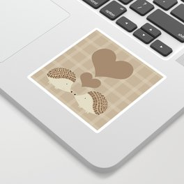 Hearts and Hedgehogs Sticker