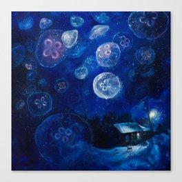 It's Jellyfishing Outside Tonight Canvas Print