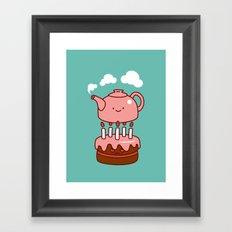 tea with cake Framed Art Print